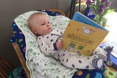 You're never too young to read.